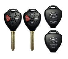 2 Remote Car Key Fob Shell Case For 2007 2008 2009 2010 2011 Toyota Camry Rav4