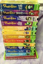 Veggie Tales 14 VHS Larry Boy Christmas Silly Songs Esther Sumo Josh Dave King