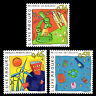 """Luxembourg 2001 - Heading into the Future """"Cartoons"""" Art - Sc 1063/5 MNH"""