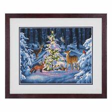 Dimensiones D70-08922 Woodland Glow Navidad puntada cruzada contada Kit 36 X 28cm