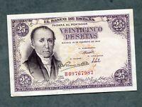 BILLETE 25  PESETAS 1946 SERIE H09767987 EBC +