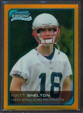 2006 BOWMAN CHROME GOLD REFRACTOR MATT SHELTON #92 ROOKIE CARD 33/50