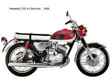 Motorcycle Canvas Picture Kawasaki 250 A1 Samurai 1966 Canvas 16x12 inch