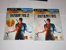 Playstation 3 PS3 - Lot Of 2 Games - Infamous, Infamous 2 w/ Slip Cover