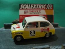SCALEXTRIC SPANISH ALTAYA SEAT COLLECTION SEAT 600E WHITE/YELLOW #80 NEW