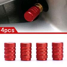 4* Red Aluminium Car Tyre Valve Stems Air Dust Cover Screw Caps Accessories