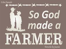 Joanie Stencil God Made Farmer Son Brothers Country Western Farmhouse DIY Signs