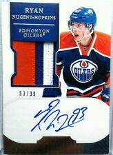 wOw! SICK /99 RYAN NUGENT HOPKINS ROOKIE JERSEY PATCH AUTO 2011 11 12 DOMINION