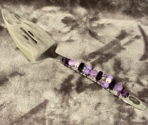 Handmade Oneida Stainless Steel Cake Server W/ Purple Wire Wrapped Beaded Handle