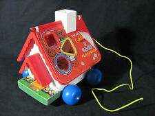 Fisher Price 1967 Goldilocks and the 3 Bears Pull Toy with Bell #151