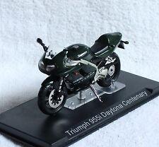 Triumph 955i Daytona Centenary dunkelgrün 1:24 Motorrad- Modell / Die-cast