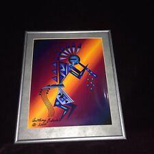 Indian Kachina Digital Print Painting Anthony Edaakie Famous Artist Flute Player