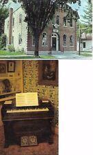 Lot of 2 Home of Antonin Dvorak/Organ used in visit to Spillville Iowa Postcards