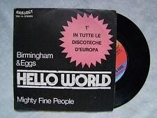 "BIRMINGHAM & EGGS""HELLO WORLD- MIGHTY FINE-45 giri- ANALOGY TRE 6"""