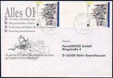 BUND 2002, MiNr. 2232 ZS, Zwischenstegpaar auf Brief, Mi. -,-
