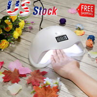 Pro White 48W Nail Art LED UV Gel Curing Lamp Dryer Timer Gel Polish Kit Tools
