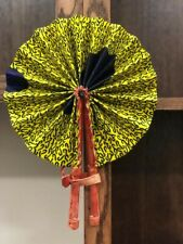 *Portable* Brafi African Ankara Print Pattern Folding Hand Fan l Home Decor