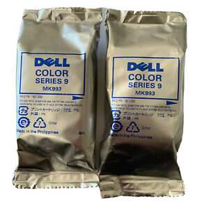 DELL SERIES 9 COLOR MK993 HIGH YIELD INK CARTRIDGES - GENUINE DELL 2 Pack