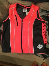 NWT Harley Davidson Women's Laced Vest 98289-14VW Large Reflective