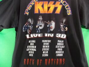 KISS Psycho Circus Tour Shirt Band Reps From Y2K New Years Eve XLG Simmons Criss