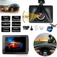 "3.2"" inch FHD 1080P Dual Lens Car DVR Reversing Camera Video Dash Cam Recorder"