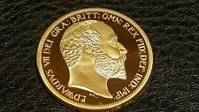 CLEARANCE COLLECTABLE COMMEMORATIVE GOLD PLATED KING EDWARD VII MEMORABILIA COIN