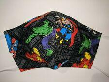 Avengers Character Toss Hulk Iron Man Thor Capt America Face Mask Adult Medium