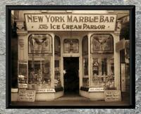 Fantastic... New York Marble Bar & Ice Cream Parlor ... Antique 5x7 Photo print