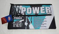 Port Adelaide Power AFL Team Song Logo Printed Neoprene Zip Up Pencil Case New