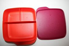 TUPPERWARE To Go Lunchbox 550 ml Trennwand Clevere Pause Schule BOX rot orange