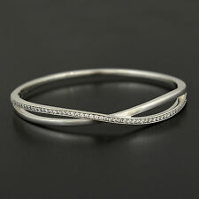 Authentic Genuine Pandora Sterling Silver Entwined Bangle 590533CZ