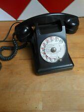 ANCIEN TELEPHONE VINTAGE BAKELITE NOIR POUR DECO COLLECTION