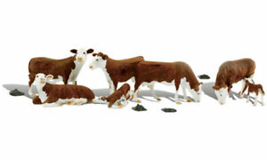 Woodland Scenics A1843 Hereford Vaches, Figurines Miniatures H0 (1:87)