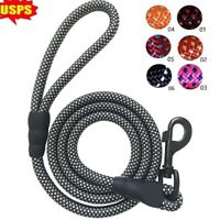 Large Heavy Duty Braided Nylon Dog Leash with Handle for Dog Training Walking