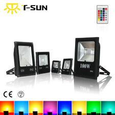 16 Color RGB Changing LED Floodlight Outdoor Garden Yard Spotlight Waterproof UK