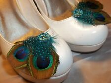 Shoe Clips, Peacock Shoe Clips, Clips for Shoes, Peacock Accessories, Bridal NEW