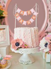 Personalized Cake Bunting Banner Birthday, Shower, Wedding Cake Topper