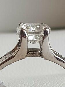 1.02 Karat Natürlicher Diamant Ring 14k WG