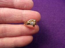 GORGEOUS RARE VTG 14K GOLD 1/4ct DIAMOND SOLITAIRE BLACK HILLS WEDDING RING SET