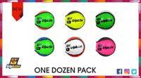 Twin Color Hurling Balls Training  GAA Sliotars Mix Colour - One Dozen Pack