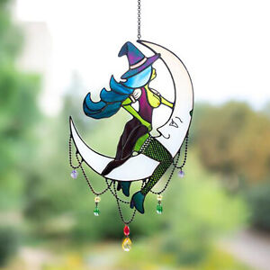 Window Hanging Crystal Ball,Moon Witch Window SunCatcher Prism Rainbow Maker