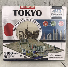 4D Cityscape Time Puzzle, History Over Time Puzzle: The City Of Tokyo 1400+ Pcs