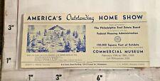 1939 Philadelphia PA Home Show Blotter FHA & Real Estate Board Commercial Museum