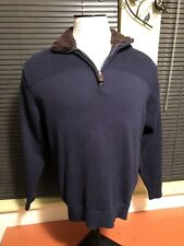 Coleman Navy Long Sleeve Knit Warm Camping Pullover Size Large