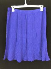 Coldwater Creek skirt womens size 1X plus elastic waist blue