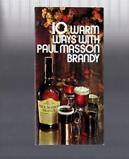 New listing Vintage Collectible 1977 Paul Masson Brandy Warm Drink 10 Recipe Guide