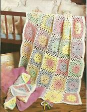 *Baby's Pastel Pretties Jacket & Afghan crochet PATTERN INSTRUCTIONS