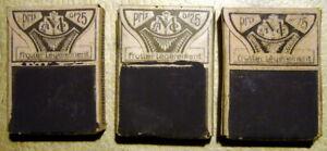 LOT DE 3 BOITES D'ALLUMETTES ANCIENNES - BOITES NEUVES ET DIFFERENTES