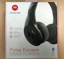 Motorola Pulse Escape Bluetooth Wireless Over-Ear Headphones Black W/Mic SH012BK