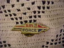 Vintage Air Force Pinbacks 2 Total Red White Blue Double Arrow Logo Used Cond